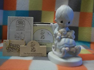 "Precious Moments Figurine ""The Purr-fect Grandma""  1979  #E-3109 W/Box"