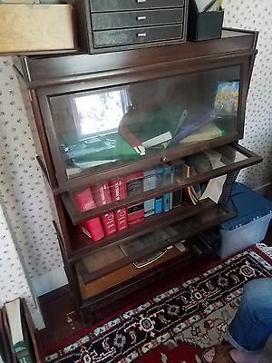 *ANTIQUE* Three Section Hale (Herkimer, NY) Vintage Barrister Style Bookcase