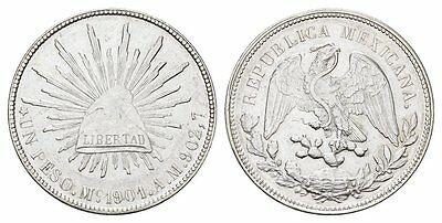 MGS MEXIKO Republik 1 Peso 1901 M°-Mexico City vz