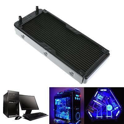 Aluminum 240mm 18 Tubes Computer Water Cooling Radiator For CPU Heat Sink Part