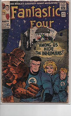 Fantastic Four #45 - 1st appearance of The Inhumans - Classic Silver age Key!