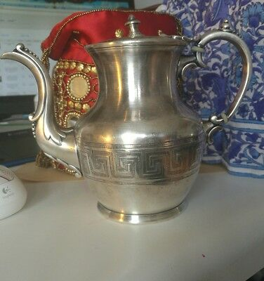 Antique  Teapot Silver 1860s