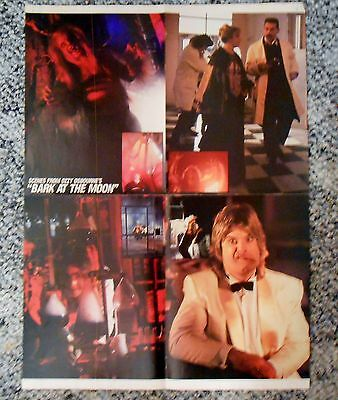 1983 Ozzy Osbourne Bark at Moon RockVideo Magazine 16x22 Fold out 2-sided Poster