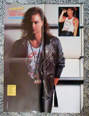 "David Lee Roth Geoff Tate 2-sided Kerrang! Large 17"" x 23"" Poster Queensryche"