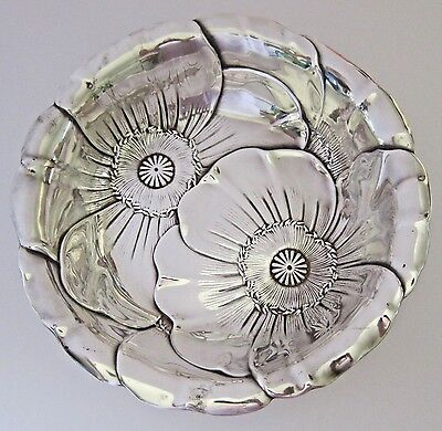 Vintage POPPY Sterling Silver WALLACE Vegetable BOWL 10 Inches 445 Grams LOVELY!