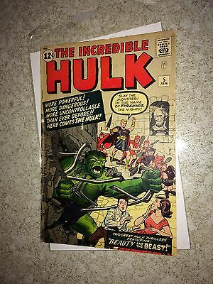 Incredible Hulk #5 first series 3.0 from original owner