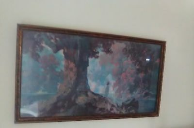 """Maxfield Parrish """"daydream"""" Framed Quality Print From 1985 """"excellent Condition"""""""