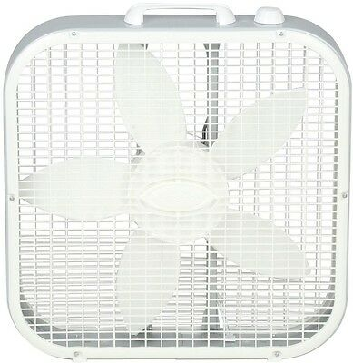 Lasko 20 in. White Floor Box Fan Electric Indoor Portable Compact 3 Quiet Speeds
