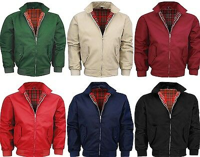 MENS CLASSIC RETRO HARRINGTON 1970's VINTAGE BOMBER JACKET MOD COAT TOP NEW