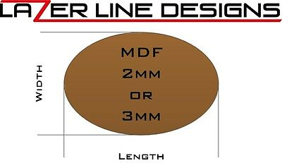 Laser Cut MDF Oval Bases in 2mm or 3mm