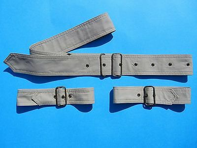 "Trench Coat Belts Only Light Tan Waist Belt 60"" Cuff Belts 18.5"" Bartsons Coat"