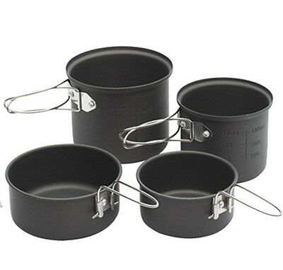 Coleman 4 pan Mini Cooking Pan Set - Ideal  for camping/hiking Festivals