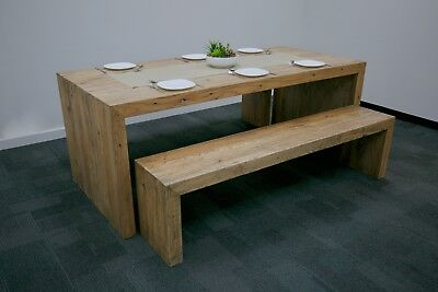 Recycled Elm Bench Table Dining Table