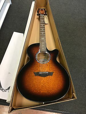 Dean Performer Ultra Quilt Ash Acoustic Electric -Tiger Eye