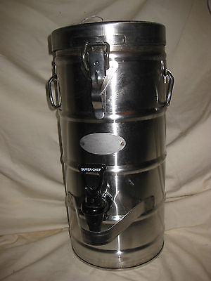 Super Chef Stainless Steel Two Gallon Insulated Beverage Dispenser Model 320