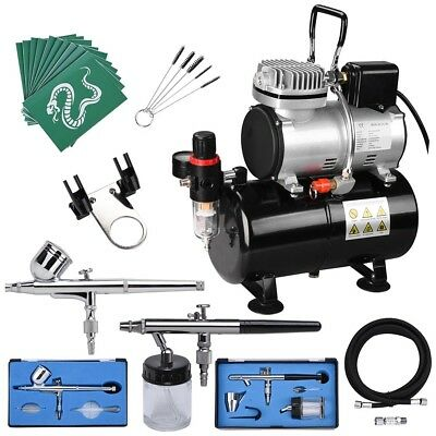 AS186 Airbrush Kit Compressor Double Action Air Brush Nail Art Tatoo Spray Paint