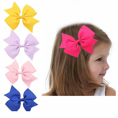 20pcs Ribbon Bow Kids Hair Alligator Clips Baby Girls accessories Wholesale