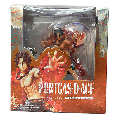 "One Piece Anime Portgas·D·Ace Battle Ver. 5.9"" PVC Figure Statue Toys New in Box"