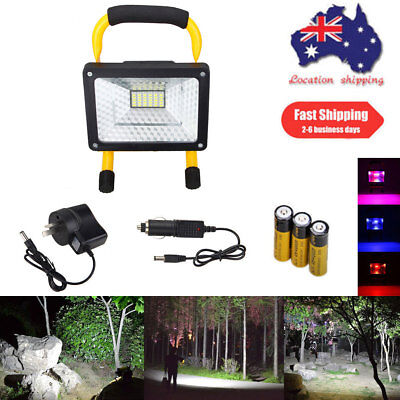50W 36LED Rechargeable Flood Spotlight Light Portable Fishing Work Lamp 3x 18650
