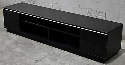 TV Stand Entertainment Unit 2000MM Cabinet Plasma LCD LED Black
