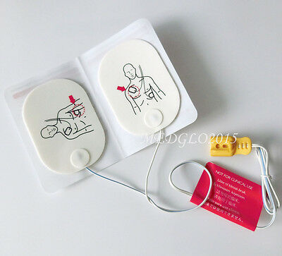 5 pairs/lot AED Adult training pads Replacement HR/FR2 Defibrillate AED trainer