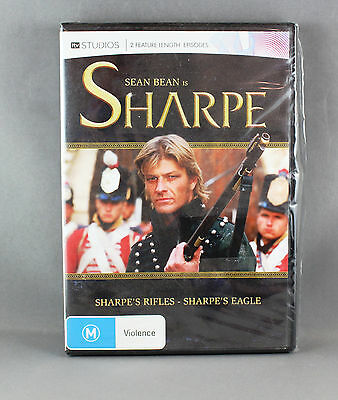 Sharpe's Rifles / Eagles Dvd R4 Brand New/sealed Starring: Sean Bean