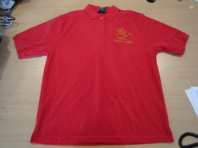 Personalised Embroidered Kid's Shirt in RED with your choice of Horse Design