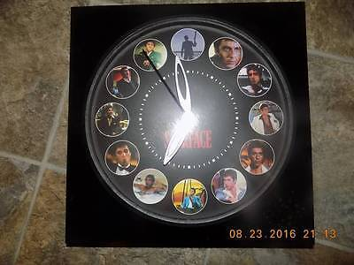 """ScarFace 11"""" x 11"""" Collectable Clock by Excalibur Productions"""