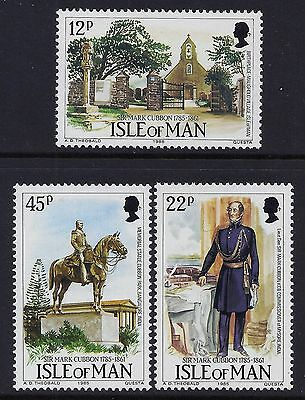 1985 Isle Of Man Sir Mark Cubbon Bicentenary Set Of 3 Fine Mint Mnh/muh