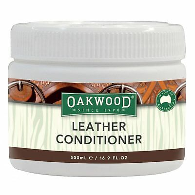 Oakwood Leather Conditioner 500mL Saddle Tack Boots Horse Shoes Moisturising