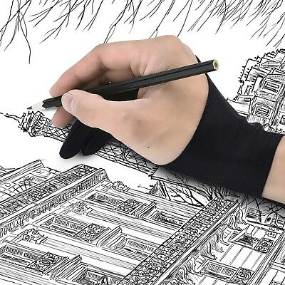 Pro Two-Finger Glove For Art Design Drawing Light Box Copy Tablet Pad