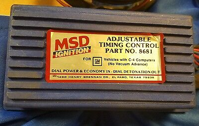 Msd Ignition Adjustable Timing Control  Part # 8681