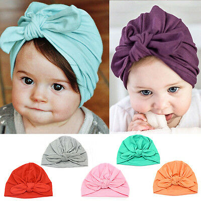 Newborn Baby Toddler Boy Girl Bowknot Cute Soft Cotton Hat Warm Hat Caps 7Colors