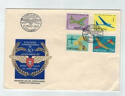 1960 PORTUGAL -  50 years of AERO CLUB, Fdc Cover, Unaddressed