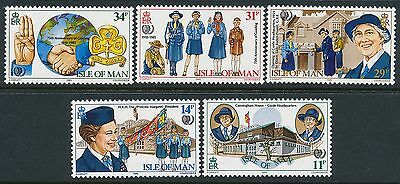 1985 Gb Isle Of Man Girl Guides Set Of 5 Fine Mint Mnh/muh