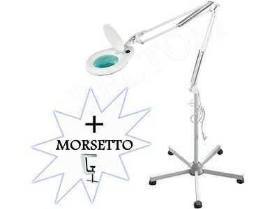 Floor LED Magnifier Magnifying Lamp Light 5 Diopter+Clamp & Stand 5-spoke Beauty