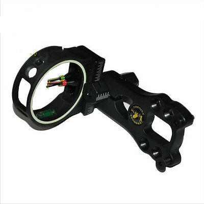"""Achery 3-Pin 0.029""""  Optical Fiber Sight for Compound Bow Outdoor Hunting Black"""