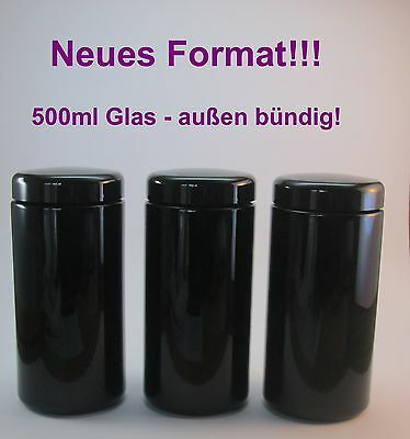 Miron violettglas 3 x 500 ml Large bouche ( en plein air rincer)