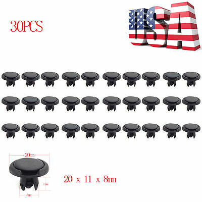 30pcs 8mm ATV Fender Clips FOR Suzuki king Quad Vinson Z250 Kawasaki KFX 400 N3