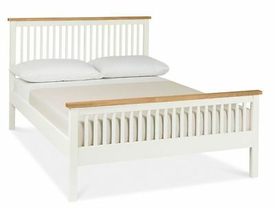Oceanus Two Tone Bedroom Furniture Small Double Bed 4ft Bedstead High Foot