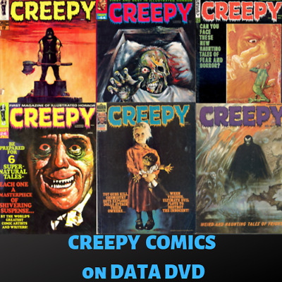 CREEPY Horror e-Comics Collection|Supernatural Monsters|146 Issues on 1 DVD-ROM