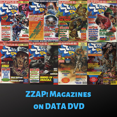 ZZap!64 MAGAZINE COLLECTION|Amiga Vintage Retro Gaming|90 Issues on 1 Data DVD