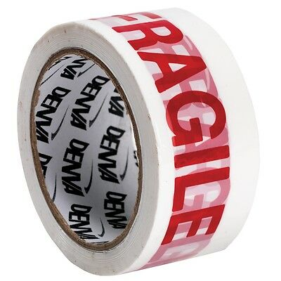 6 Rolls Of LOW NOISE FRAGILE Packing Denva Tape 48mm x 66M