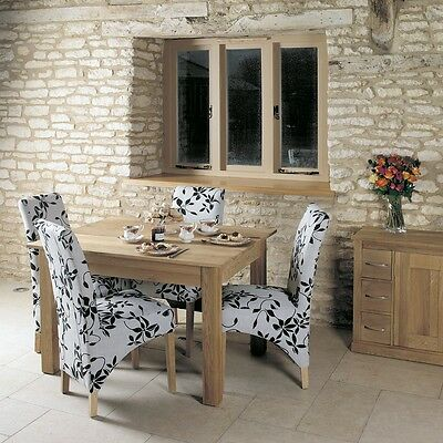 Mobel Solid Oak Wooden Furniture 4 Seater Medium Dining Table