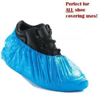 Disposable Plastic Overshoes Shoes Carpet Covers Shoe Protector PACK OF 30