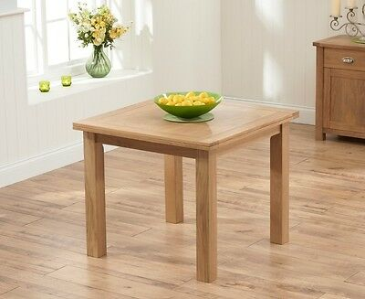 Banbury Oak Wooden Living Room Furniture 90cm Extandable Dining Table