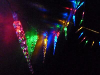 50 Led 5.9M White Solar Icicle Christmas Or Wedding Party Lights