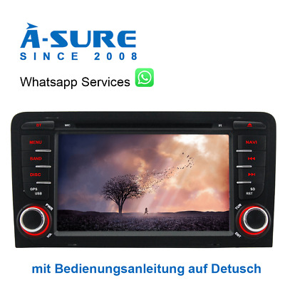 "7""  Android 7.1 DVD GPS Autoradio Navi BT DAB+ für AUDI A3 S3 RS3 WiFi USB MP3"