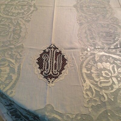 Elaborate Rare Vintage Tablecloth  Unused 68 X 108