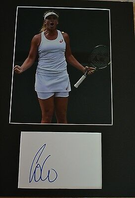 "Coco Vandeweghe Autograph Signed  Card (10 X 8"" Photo) (Tennis / Wimbledon) 55"